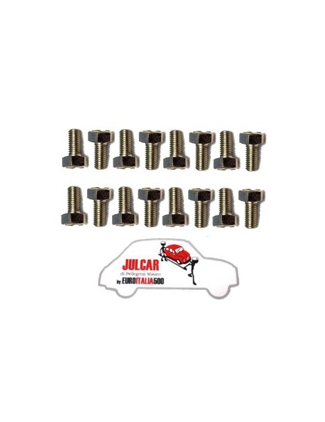 Kit 16 bulloni fissaggio cerchio ruota Fiat 500 F/L