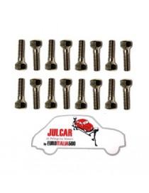 Kit 16 bulloni conici fissaggio cerchio in lega Fiat 500