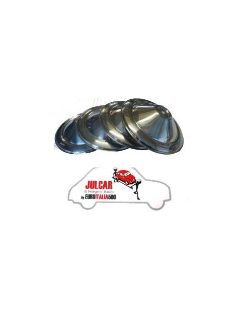 4 coppe ruota in acciaio INOX fiat 500 F