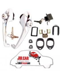 Kit maniglie esterne e chiusura cofano posteriore con unica chiave Fiat 500