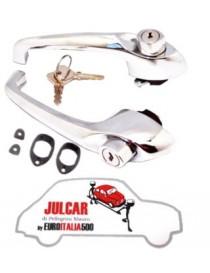 Coppia maniglie esterne con chiave e guarnizioni Fiat 500