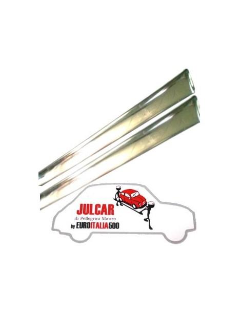 Coppia modanature sottoporta in acciaio Fiat 500 F/L