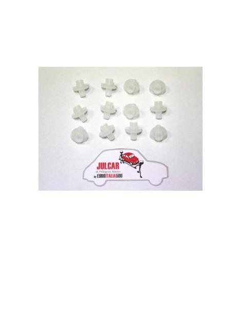 Kit mollette di fissaggio modanature sottoporta in Fiat 500
