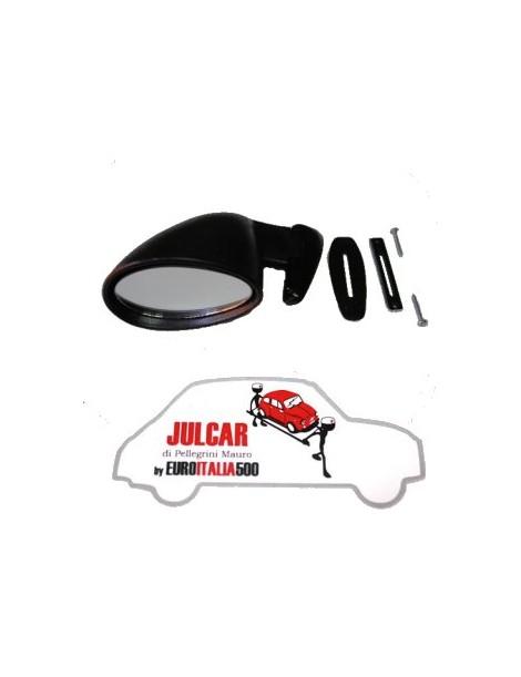 Specchio esterno in plastica nera sinistro con guarnizione tipo California Fiat 500