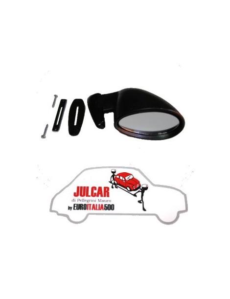 Specchio esterno in plastica nera destro con guarnizione tipo California Fiat 500