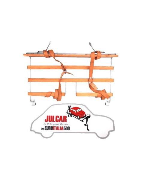 Portapacchi verniciato a polvere con bacchette in legno Fiat 500