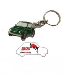 Portachiavi metallo verde Fiat 500