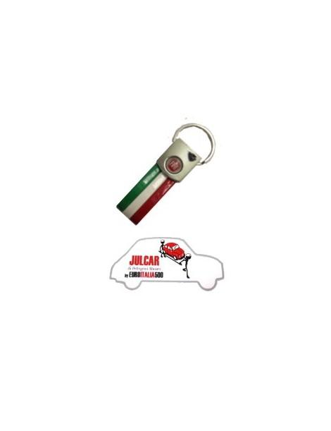Portachiavi tricolore logo Fiat