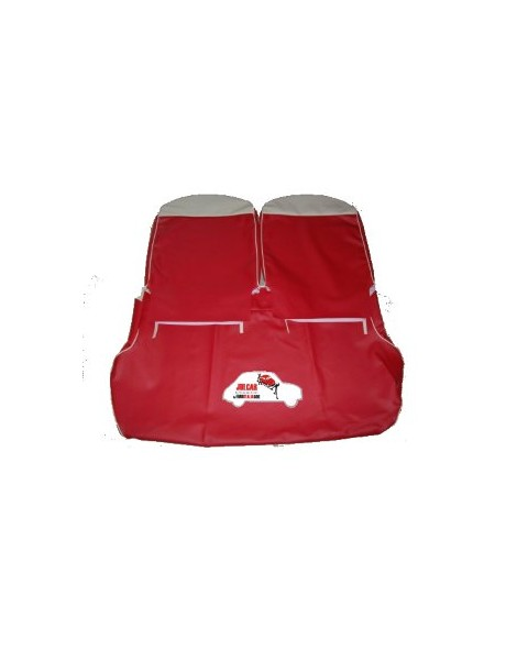 Kit fodere rosse con lunetta avorio in Vipla alta qualità Fiat 500 F