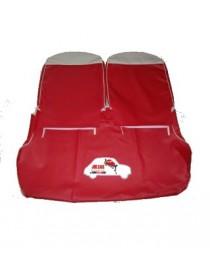 Kit fodere rosse con lunetta avorio in Vipla alta qualità Fiat 500 D