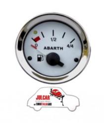 Strumento livello benzina bianco Abarth Ø 52 mm Fiat 500