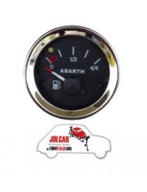 Strumento livello benzina nero Abarth Ø 52 mm Fiat 500