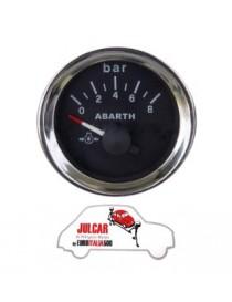 Strumento pressione olio nero Abarth Ø 52 mm Fiat 500