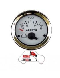 Strumento voltmetro bianco Abarth Ø 52 mm Fiat 500