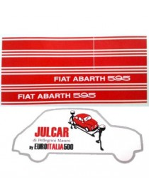 Kit adesivi laterali Abarth 595 Fiat 500
