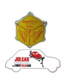 Tappo olio giallo Abarth Shell coperchio punterie Fiat 500