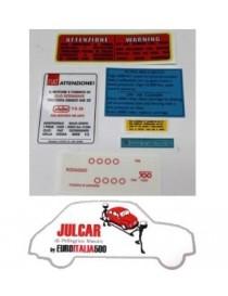 Kit adesivi completo Fiat 500 D