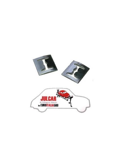 Coppia mollette fissaggio fregi e scritte Fiat 500