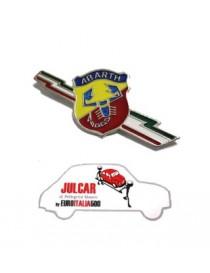 Fregio stemma laterale Abarth fulmine per parafango posteriore Fiat 500