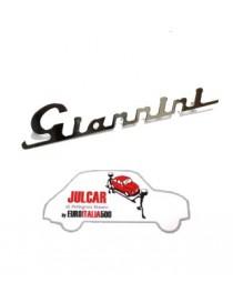 Scritta cromata Giannini per cofano motore 17,3 x 3,3 cm Fiat 500
