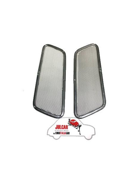 Coppia griglie posteriori in alluminio per prese aria motore Fiat 500 Giardiniera