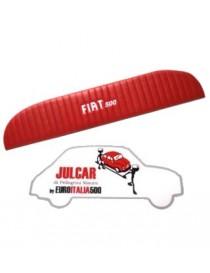 Pannello mensola lunotto posteriore rosso con scritta bianca Fiat 500 L