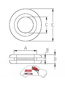 Gommino passacavo per foro da 30 mm Fiat 500