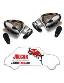 Coppia specchi esterni California Cromati Fiat 500