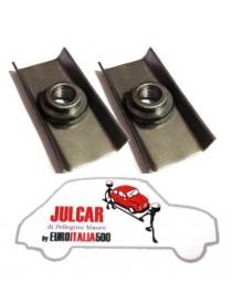 Coppia blocchetti attacco cinture sicurezza su pianali Fiat 500