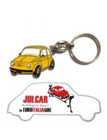 Portachiavi giallo Fiat 500