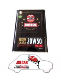 2L Olio motore minerale MOTUL 20W50 per auto d'epoca Fiat 500