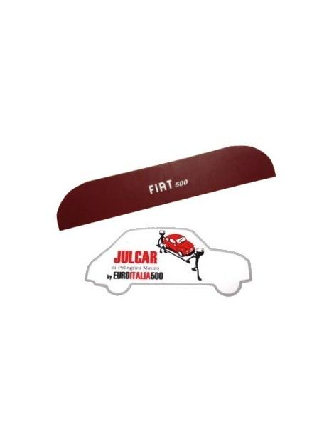 Pannello mensola lunotto posteriore bordeaux con scritta bianca Fiat 500