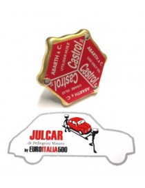 Tappo olio coperchio punterie Abarth Castrol Fiat 500/126