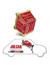 Tappo olio coperchio punterie Giannini Castrol Fiat 500