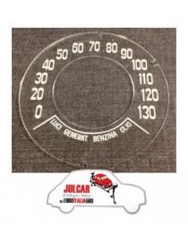 Vetrino cruscotto Giannini 130 KM/H Fiat 500