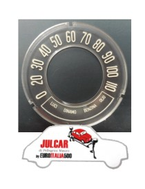 Vetrino cruscotto inclinato 110 km/h Fiat 500 D