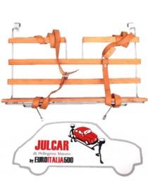 Portapacchi cromato con bacchette in legno Fiat 500