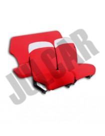 Set coprifodere copri sedili rosse in tessuto elastico Fiat 500