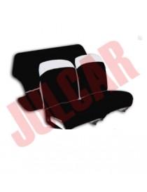 Set copri fodere  sedili nere in tessuto elastico Fiat 500