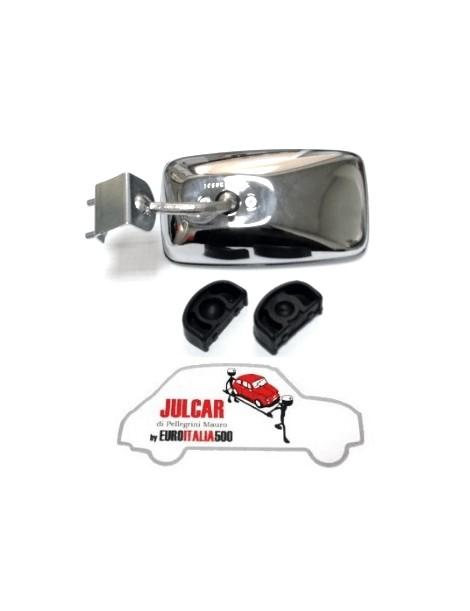 Specchio esterno rettangolare cromato con guarnizione Fiat 500