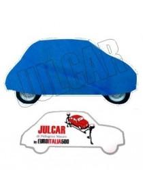 Telo copriauto da esterno blu Fiat 500