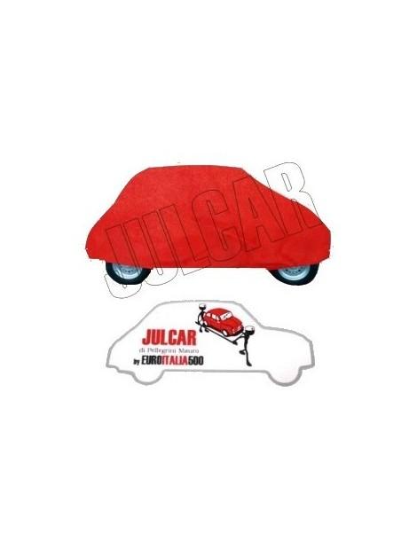 Telo copriauto da esterno rosso Fiat 500