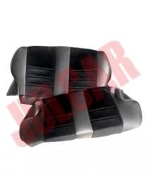 Fodere sedili posteriori NERE in pelle e velluto modello Fusina Fiat 500 F/L