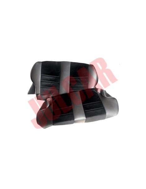 Fodere sedili posteriori in pelle e velluto modello Fusina Fiat 500