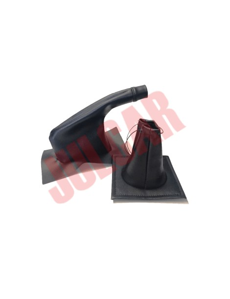 Coppia cuffie nere leva marce e freno a mano Fiat 500