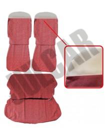 Kit fodere in tessuto rosso tinta unita Fiat 500 D