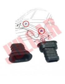 Coppia tubetti neri scolo acqua parabrezza Fiat 500 R/126