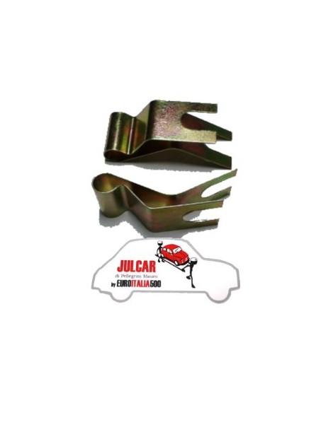 Coppia staffe di fissaggio cavo freno a mano Fiat 500