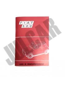 Libretto uso e manutenzione Fiat 500 F