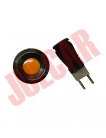 Spia cruscotto cromata con luce rossa Fiat 500/126